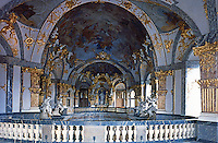 Wurzburg: Wirzburg Palace. Balthasar Neumann, chief architect but many architects involved. Completed in 1774. Baroque design. Oberkirche der Hofkirche.