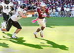 Mario Pender fights off Wake Forest linebacker Hunter Williams on his way to the end zone when Florida State defeated Wake Forest 43-3 in an NCAA football game in Tallahassee, FL October 4, 2014.