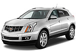 Front three quarter view of a 2010 Cadillac SRX Performance.