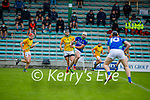 Kerry's Jason Diggins races ahead of Meaths Daithi McGowan for possession in the National hurling league in Austin Stack Park on Sunday