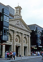 Gloucester: 18th century portico, new entrance to shopping center. Photo '90.