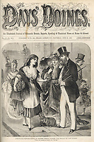 An awkward encounter in Regent Street London - 'That girl seems to know you George !' / The day's doings vol 2 , 24 June 1871 page 353 / 1871