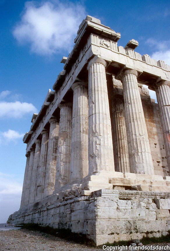 Athens: The Parthenon--3/4 view. Photo '82.