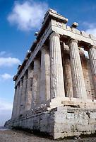 Athens: The Parthenon--3/4 view. Photo '82.