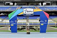 CALI-COLOMBIA, 20-09-2020: Protocolos de bioseguridad previo al partido entre America de Cali y Atletico Bucaramanga, de la fecha 9 por la Liga BetPlay DIMAYOR I 2020 jugado en el estadio Pascual Guerrero de la ciudad de Cali. / Biosafety protocols prior a match between America de Cali and Atletico Bucaramanga for the 9th date for the BetPlay DIMAYOR I 2020 played at the Pascual Guerrero stadium in Cali city. / Photo: VizzorImage / Nelson Rios / Cont.
