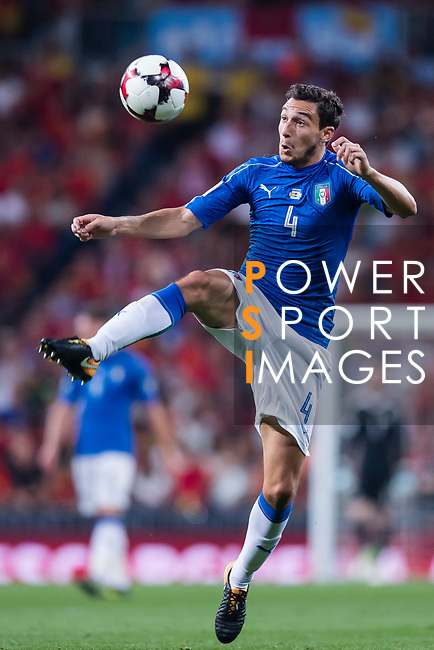 Matteo Darmian of Italy in action during their 2018 FIFA World Cup Russia Final Qualification Round 1 Group G match between Spain and Italy on 02 September 2017, at Santiago Bernabeu Stadium, in Madrid, Spain. Photo by Diego Gonzalez / Power Sport Images