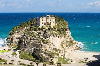 Italy, Calabria, Protea: L'Isola (island) with sanctuary Santa Maria dell'Isola