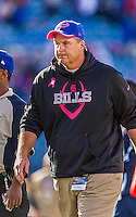 12 October 2014: Buffalo Bills Head Coach Doug Marrone  walks off the field after a game against the New England Patriots at Ralph Wilson Stadium in Orchard Park, NY. The Patriots defeated the Bills 37-22 to move into first place in the AFC Eastern Division. Mandatory Credit: Ed Wolfstein Photo *** RAW (NEF) Image File Available ***