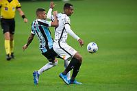 28th August 2021; Arena do Gremio, Porto Alegre, Brazil; Brazilian Serie A, Gremio versus Corinthians; Ruan of Gremio and Jô of Corinthians