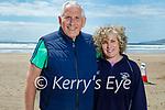 Enjoying a stroll on Inch Beach on Saturday, l to r: Dick and Jo McCarthy.
