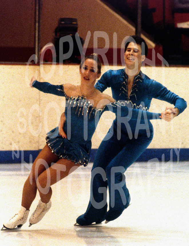 Carol Fox and Richard Dalley of the United States compete at the 1981 Skate Canada in Ottawa, Canada. Photo copyright Scott Grant.