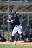GCL Tigers East left fielder Matthew Jarecki (36) at bat during a game against the GCL Tigers West on August 8, 2018 at Tigertown in Lakeland, Florida.  GCL Tigers East defeated GCL Tigers West 3-1.  (Mike Janes/Four Seam Images)