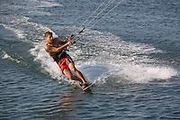 Kite sail surfing, Pleasure Bay, South Boston, MA