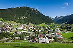 Austria, Vorarlberg, Montafon, Gaschurn: popular ski-resort at High-Montafon region   Oesterreich, Vorarlberg, Montafon, Gaschurn: bekannter Skiort im Hoch-Montafon und flaechengroesste Gemeinde Vorarlbergs
