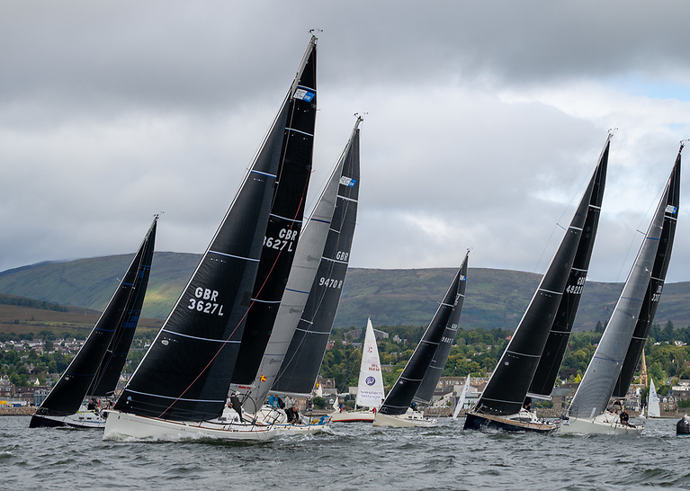 A start of the RC35 class at the 2021 Scottish Series