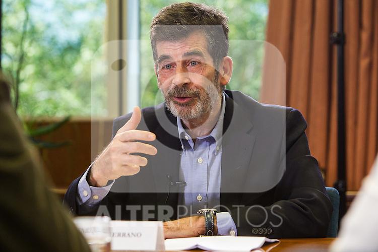 Jose Enrique Serrano of Partido Socialista during the debate on agreements with representatives of the four major political forces at the headquarters of the newspaper La Razon . 19,06,2016. (ALTERPHOTOS/Rodrigo Jimenez)