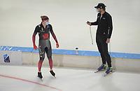 SCHAATSEN: HEERENVEEN: 13-01-2021, IJsstadion Thialf, Speed Skating training, Team Canada, Ted Jan Bloemen, trainer/coach Remmelt Eldering, ©Photo Martin de Jong