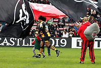 Photo: Richard Lane/Richard Lane Photography. Toulouse v Wasps.  European Rugby Champions Cup. 15/12/2018. Wasps' Ashley Johnson leads the team out.