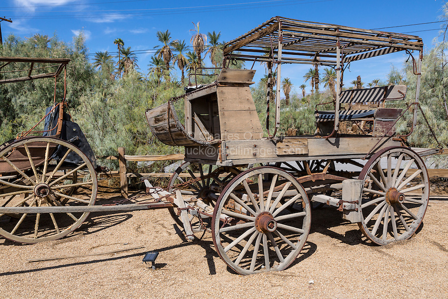 Death Valley, California.  Old Stage Coach at Furnace Creek Museum.  Used 1874-88.