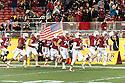 SANTA CLARA, CA - December 30, 2014: The 2014 Foster Farms Bowl: The Stanford Cardinal vs the University of Maryland Terrapins at Levi Stadium in Santa Clara, California. Final score Stanford Cardinal 45, Maryland Terrapins 21.