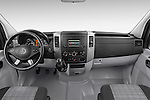Stock photo of straight dashboard view of 2016 Mercedes Benz Sprinter-Cargo-Van 2500-144-WB-High-Roof 4 Door Cargo Van Dashboard