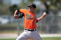 Baltimore Orioles Nick Additon (96) during a minor league Spring Training game against the Minnesota Twins on March 16, 2016 at CenturyLink Sports Complex in Fort Myers, Florida.  (Mike Janes/Four Seam Images)