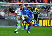 Saturday, 03 November 2012<br /> Pictured L-R: Angel Rangel of Swansea challenging Fernando Torres of Chelsea<br /> Re: Barclays Premier League, Swansea City FC v Chelsea at the Liberty Stadium, south Wales.