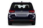 Straight rear view of 2019 KIA Sedona EX 5 Door Minivan Rear View  stock images