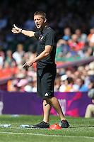 New Zealand Coach Tony READINGS - New Zealand Women vs Brazil Women - Womens Olympic Football Tournament London 2012 Group E at the Millenium Stadium, Cardiff, Wales - 28/07/12 - MANDATORY CREDIT: Gavin Ellis/SHEKICKS/TGSPHOTO - Self billing applies where appropriate - 0845 094 6026 - contact@tgsphoto.co.uk - NO UNPAID USE.