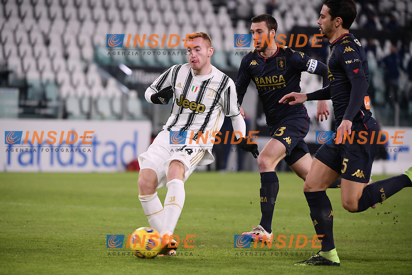 Dejan Kulusevski of Juventus FC scores the goal of 1-0 <br /> during the Italy Cup round of 16 football match between Juventus FC and Genoa CFC at Juventus stadium in Torino (Italy), January 13th, 2021. Photo Federico Tardito / Insidefoto