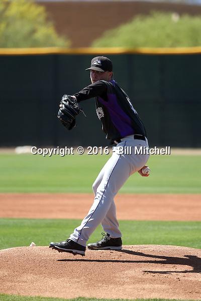 Trey Killian - Colorado Rockies 2016 spring training (Bill Mitchell)