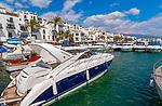Spanien, Andalusien, Provinz Málaga, Costa del Sol, Puerto Banús bei Marbella: Yachthafen, Anlaufpunkt des Jetsets, der Stars und Sternchen | Spain, Andalusia, Costa del Sol, Puerto Banús near Marbella: yacht harbour