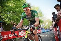 Christophe Kern (FRA/Europcar) up the Mur de Huy<br /> <br /> La Flèche Wallonne 2014