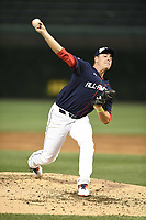 TEMPORARY UNEDITED FILE:  Image may appear lighter/darker than final edit - all images cropped to best fit print size.  <br /> <br /> Under Armour All-American Game presented by Baseball Factory on July 20, 2018 at Wrigley Field in Chicago, Illinois.  (Mike Janes/Four Seam Images) Matthew Allan is a pitcher from Seminole High School in Sanford, Florida committed to Florida.