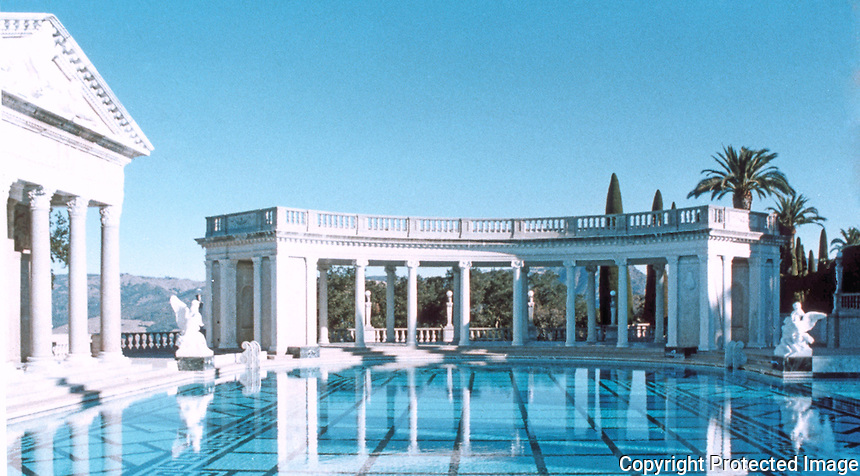 Hearst Castle: Neptune Pool.  (Finley-Holiday Films)