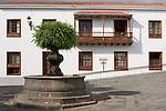 Spain, Canary Islands, La Palma, Santa Cruz de La Palma: capital - old town, balcony