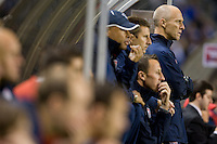Bob Bradley and the coaching staff.USA vs Honduras, Saturday Jan. 23, 2010 at the Home Depot Center in Carson, California. Honduras 3, USA 1.