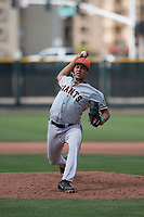San Francisco Giants relief pitcher Aaron Phillips (50) delivers a pitch to the plate during a Minor League Spring Training game against the Cleveland Indians at the San Francisco Giants Training Complex on March 14, 2018 in Scottsdale, Arizona. (Zachary Lucy/Four Seam Images)