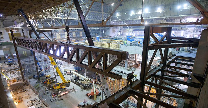Maple Leaf Gardens/Ryerson University rink construction