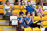 St Johnstone v Fleetwood Town…24.07.21  McDiarmid Park<br />Fans applaud the saints players as they make their way onto the pitch<br />Picture by Graeme Hart.<br />Copyright Perthshire Picture Agency<br />Tel: 01738 623350  Mobile: 07990 594431