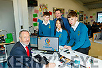MEP Sean Kelly, left, launched the STEAM academy (Science, Technology, Engineering, Arts and Maths) at Mercy Mount hawk secondary school, Tralee, last Friday morning, also pictured are L-R Cian Mason, Kim McTigue and Oisín McGibney with their technology teacher Will Nolan.