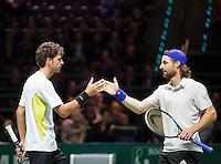 Februari 13, 2015, Netherlands, Rotterdam, Ahoy, ABN AMRO World Tennis Tournament, Robin Haase (NED) / Andre Bagemann (GER)<br /> Photo: Tennisimages/Henk Koster