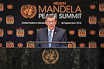 Opening Plenary Meeting of the Nelson Mandela Peace Summit<br /> <br /> Uruguat FM
