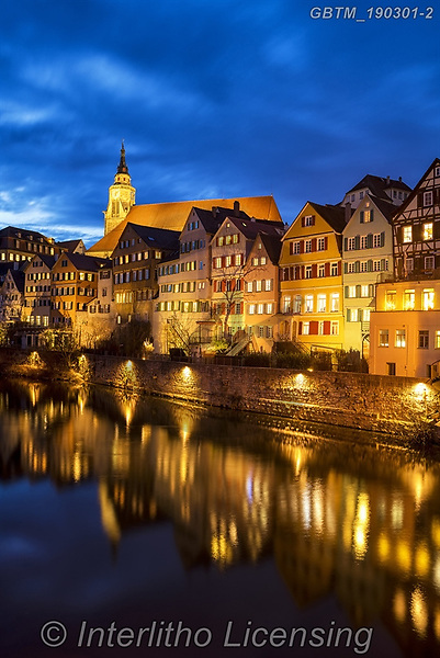 Tom Mackie, LANDSCAPES, LANDSCHAFTEN, PAISAJES, photos,+Baden-Wurttemberg, Deutschland, EU, Europe, European, German, Germany, River Neckar, Tom Mackie, T++bingen, architecture, blu+e hour, cities, city, evening, heritage, historic, house, houses, illumination, light, nightscene, reflecting, reflection, re+flections, river, riverside, time of day, town, twilight, upright, urban, vertical, water, water's edge,Baden-Wurttemberg, De+utschland, EU, Europe, European, German, Germany, River Neckar, Tom Mackie, T++bingen, architecture, blue hour, cities, city,+,GBTM190301-2,#l#, EVERYDAY