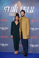 """Sonequa Martin-Green and Shazad Latif<br /> at the """"Star Trek Discovery"""" photocall, Millbank Tower,  London<br /> <br /> <br /> ©Ash Knotek  D3347  05/11/2017"""