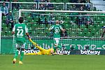 19.09.2020, wohninvest Weserstadion, Bremen, GER,  SV Werder Bremen vs Hertha BSC Berlin, <br /> <br /> <br />  im Bild<br /> <br /> 0:3 Ondrej Duda (Hertha BSC #10) n ic ht im Bild gegen Jiri Pavlenka (Werder Bremen #01) Theodor Gebre Selassie (Werder Bremen #23)<br /> Davy Klaassen (Werder Bremen #30)<br /> <br /> Foto © nordphoto / Kokenge<br /> <br /> DFL regulations prohibit any use of photographs as image sequences and/or quasi-video.