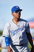 AZL Royals Edickson Soto (19) before an Arizona League game against the AZL Cubs 1 on June 30, 2019 at Sloan Park in Mesa, Arizona. AZL Royals defeated the AZL Cubs 1 9-5. (Zachary Lucy / Four Seam Images)