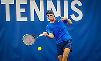 Amstelveen, Netherlands, 17  December, 2020, National Tennis Center, NTC, NK Indoor, National  Indoor Tennis Championships,   :   Ryan Nijboer (NED) <br /> Photo: Henk Koster/tennisimages.com