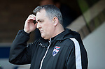 St Johnstone v Ross County…24.02.18…  McDiarmid Park    SPFL<br />Owen Coyle scratches his head<br />Picture by Graeme Hart. <br />Copyright Perthshire Picture Agency<br />Tel: 01738 623350  Mobile: 07990 594431