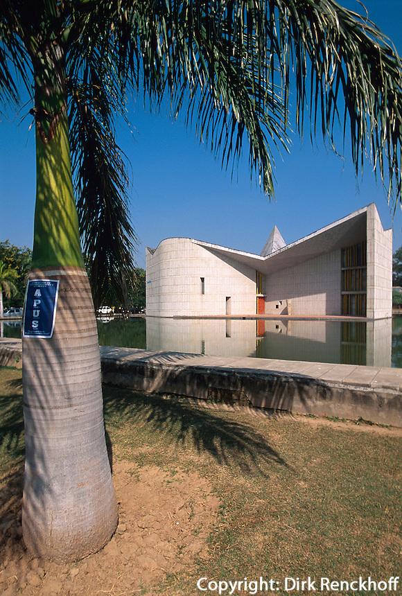 Indien, Haryana, Chandigarh, Gebäude von Le Corbusier, UNESCO-Weltkulturerbe